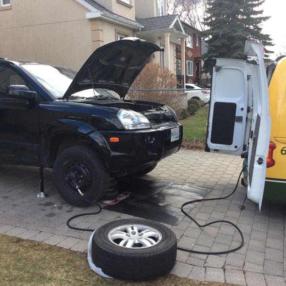 tire rotation & storage